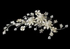 Sparkling Silver Crystal Bridal Comb, Wedding Cake Toppers, Bridal Hair Accessories, Wedding Supplies #1 Wedding Shop