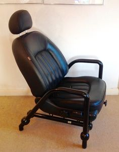 Items Similar To Rover Chair Industrial Design Loft Style Seat Limited  Number Black Leather Tubular Frame On Etsy