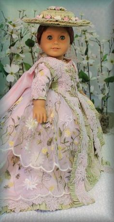 "MHD Designs ""Versailles"" OOAK for American Girl Dolls Felicity & Elizabeth, via eBay ends 4/25/14  Bid $1,750.00 or BIN $2,500.00      ***SOLD $1,750.00****"