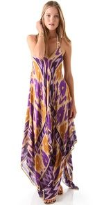 ikat purple and gold