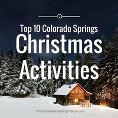 Top 10 Colorado Springs Christmas Activities {Updated for Denver Colorado, Colorado Winter, Colorado Homes, Colorado Trip, Fort Carson Colorado, Visit Colorado, Colorado Springs Things To Do, Moving To Colorado, Colorado Springs Apartments