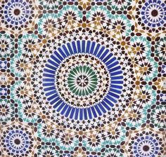 Middle eastern pattern created using advanced geometry.