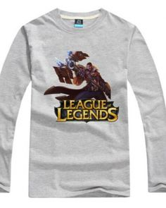 League of Legends oversized t shirt long sleeve for men cool Jayce printed tee -
