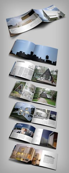 Interior Design Brochure by Abra Design, via Behance Portfolio - architecture brochure template