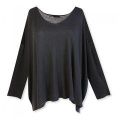 Ekyog - T-Shirt oversize en lyocell-lin noir - Taille unique