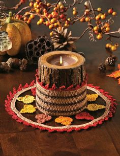 Shades of Autumn Doily in Aunt Lydia's Classic 10 from the October 2014 Issue of Crochet World