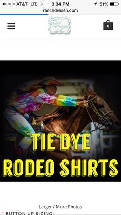 tie dye rodeo shirts