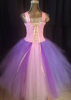 La Raiponce - Raiponce tutu costume de princesse, princesse tutu, Rapunzal deguisement, robe de Rapunzel, Robe tutu princesse rose