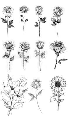 Single Rose Tattoos, Rose Tattoos For Women, Tattoos For Guys, Small Rose Tattoos, Tattoo Small, Mens Rose Tattoos, Tatto For Men, Finger Tattoos, Body Art Tattoos