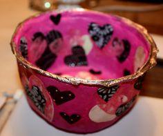 handmade paper mache bowl by Zita