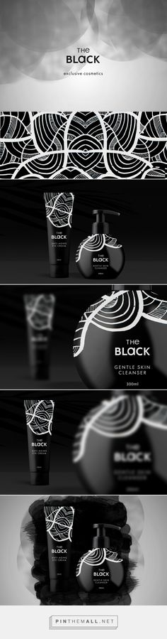 The Black Exclusive Cosmetics Packaging by Яна Аксакова | Fivestar Branding Agency – Design and Branding Agency & Curated Inspiration Gallery #packaging #packagingdesign #packagedesign #design #designinspiration