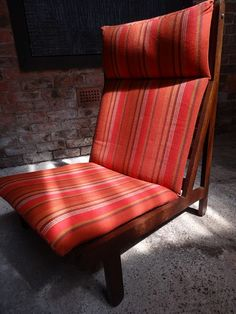 1968 Vintage danisch Bernt Petersen  ''The Rag'' orange fabric chair #fabric #bernt #petersen #orange #danish #moodlighting #vintage #retro #euvintage