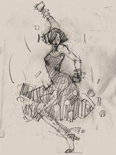 Harlem Swing Dance Studies by Martin French, via Behance Dancer Tattoo, Dancer Drawing, Gesture Drawing, Life Drawing, Figure Drawing, Painting & Drawing, Music Illustration, Illustrations, Dancing Drawings