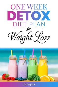 One Week Detox Diet Plan for Weight Loss- [Only 7 Days & Effective] One Week Detox Diet Plan for Weight Loss- [Only 7 Days & Effective] Try this one week detox diet plan for weight loss to cleanse your body of deadly toxins and raise your metabolisms. Week Long Detox, One Week Detox Diet, Detox Diet Plan, One Week Cleanse, Weight Loss Detox, Weight Loss Diet Plan, Weight Loss Smoothies, Weight Gain, Detox Diet Recipes