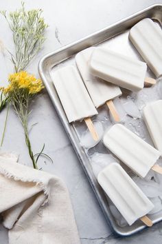 Sweet and Creamy Dairy-free Coconut Popsicles