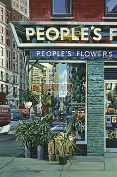 Reflections, Urban Realism by Richard Estes art works) Ashita No Nadja, Pop Art, Hyper Realistic Paintings, Detailed Paintings, Amazing Paintings, Art Paintings, Amazing Art, Architectural Features, Built Environment