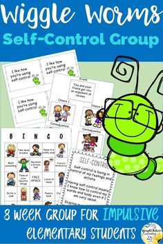 Self-Control Counseling Group Wiggle Worms- School Counseling Group Self-Control Counseling Group Wiggle Worms- School Counseling Group,School counselor counseling social work emotional learning skills character Social Skills Activities, Counseling Activities, Therapy Activities, Interactive Activities, Group Activities, Therapy Ideas, Leadership Activities, Therapy Tools, Play Therapy