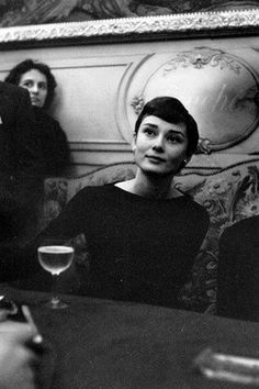 Audrey Hepburn in Paris, March 1955.