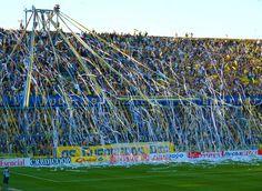 Hinchada de Rosario Central - Estadio Mundialista Gigante de Arroyito - Rosario - Argentina.   (lbk)