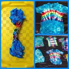 Tye Dye, Tie Dye Folding Techniques, Tie Dye Party, Diy Tie Dye Shirts, Tie Dye Crafts, Tie Dye Rainbow, Diy Vetement, How To Tie Dye, Tie Dye Designs