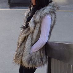 B Sable Faux Fur Vest ONEDAYSALE ❄️ Stunning faux fur vest by luxury animal friendly brand B Sable.  Like New.  XS but very oversized fits more like a M. B Sable Jackets & Coats Vests