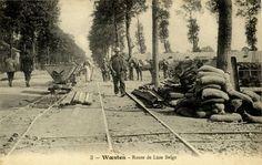Woesten: bevoorrading van het front. WWI