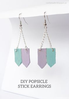 Curly Made: DIY Popsicle Stick Earrings