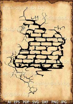 Wall brick drawing artworks 17 ideas for 2019 Graffiti Doodles, Graffiti Drawing, Graffiti Lettering, Graffiti Art, Brick Wall Drawing, Media Mix, Cracked Wall, Wall Paper Phone, Wall Tattoo