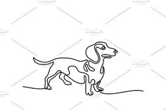 Dog jumping and playing. Illustrations