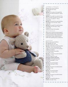 Photo from album Simply Knitting 2018 on Yandex. Simply Knitting, Free Knitting, Baby Knitting, Knitted Stuffed Animals, Knitted Animals, Diy Crochet Toys, Crochet For Kids, Animal Knitting Patterns, Knitted Teddy Bear