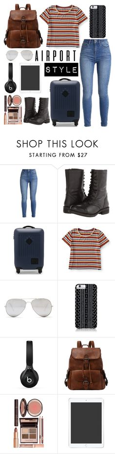 """""""Boho Travel✈"""" by hermione9948 ❤ liked on Polyvore featuring Steve Madden, Herschel Supply Co., Aéropostale, Sunny Rebel, Savannah Hayes, Beats by Dr. Dre and Charlotte Tilbury"""