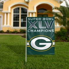 """Green Bay Packers NFL 11"""" X 15"""" Garden Flag by Caseys. $9.99. These garden flags are a great way to show who your favorite team is and also makes a great gift!They are a great addition to any yard or garden area. They are 11""""x15"""" in size are made of a sturdy polyester material and feature bright eye-catching graphics.Pole not included.Made by WinCraft."""
