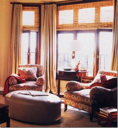 Suzanne Rheinstein bay window treatment