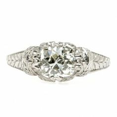 Edwardian Engagement Ring | Vintage Engagement Ring trumpetandhorn.com | $5,850
