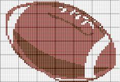 American football ball pattern