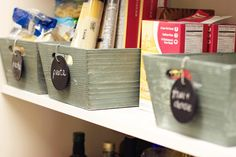 Found this great chalkboard tags to get organized. Maybe nice to make on the same rainy day as the lovely chalkboard wine bottles on my board.!