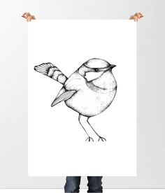 One little birdie, 50x70 cm på www.nordicdesigncollective.se
