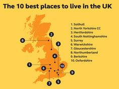 Ten best places to live in the UK: Solihull comes top