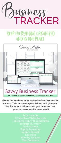 social media Business planner productivity planner daily - Financial Spreadsheet For Small Business