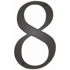 """Antique House Number Letter: 8, Color: Bronze by Blink Manufacturing. $27.99. BAN-8-DZ Letter: 8, Color: Bronze Features: -UV protected against fading.-Maintenance free.-Highly visible 5"""" H.-Made in the USA. Includes: -Includes 0.5"""" standoffs for dimensional look. Construction: -Constructed of 16 gauge galvanized steel; will not rust. Warranty: -One year manufacturers warranty."""