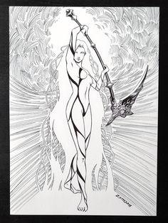 Morrigan A4 Fantasy Dark Art Print Irish Mythology, Cyberpunk 2077, Dark Art, Fine Art Paper, Crow, A4, Digital Art, Art Prints, Artwork