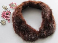 Fur Collar Vintage 1950s Antique Fur Collar