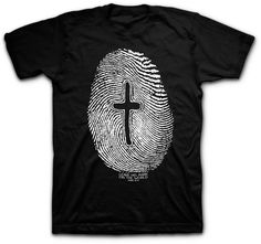 "Kerusso Jesus Left His Mark Fingerprint Christian T-Shirt - Jesus left His mark on this earth and you can too with our Fingerprint Christian t-shirt. This tee is based on Jesus command in Mark ""go into all the world and preach the gospel to all creation"". Christian Clothing, Christian Shirts, Christian Apparel, Christian Church, Sweat Shirt, Cool Shirts, Tee Shirts, Jesus Shirts, Christen"