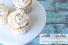 Custard Filled Vanilla Cupcakes @createdbydiane