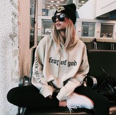Hoodies & Sweatshirts Women Loose Harajuku Hoodies Extra Long Sleeves Capuche Letter Print Sweatshirt Hip Hop Kpop Clothes Pullover Streetwear T. Mode Outfits, Fall Outfits, Casual Outfits, Fashion Outfits, Womens Fashion, Fashion Ideas, Urban Outfits, School Outfits, Casual Wear