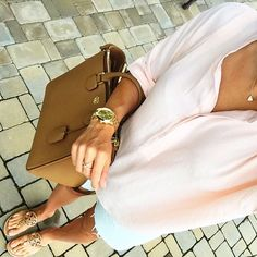 IG @mrscasual <click through to shop this look> Chicwish blush top. Light wash cut off denim shorts. Tory burch miller sandals. Square pebbled Robinson tote. Kendra Scott