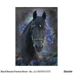 Black Beauty Friesian Horse - Acrylic Art Horse Posters, Photo Composition, Friesian Horse, Photo Blocks, Horse Photos, Acrylic Art, Custom Posters, Black Beauty, Paper Texture