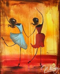 RezClick - Whimsy Paint and Sip: Calendar Painting & Drawing, Watercolor Paintings, Africa Art, Dance Art, Beautiful Paintings, Painting Inspiration, Creative Art, Abstract Art, Canvas Art