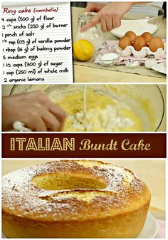 The Italian-style #bundt cake is a very soft #dessert, made with simple and natural #ingredients, perfect to dip into milk or tea.