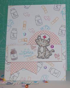 Indy's Designs: Not Feline Well? Newton's sick Day stamp set by Newton's Nook Designs